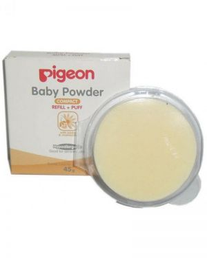 PIGEON BABY POWDER REFILL+PUFF-ISI 1 PCS